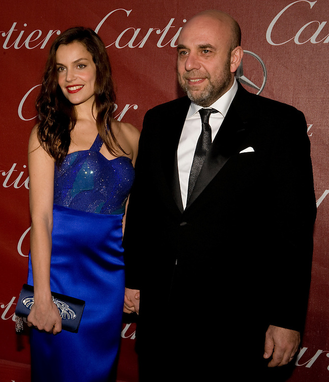 Micaela Ramazzotti, left, and director Paolo Virizi, both from Beautiful Things, pose for the cameras during the Palm Springs International Film Festival red carpet event at the Palm Springs Convention Center on Saturday.