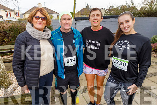 At the Charlie Kerins 10k in Kerins O'Rahilly's on Sunday morning<br /> L to r: Joan and George Glover, Ann and Maeve O'Leary