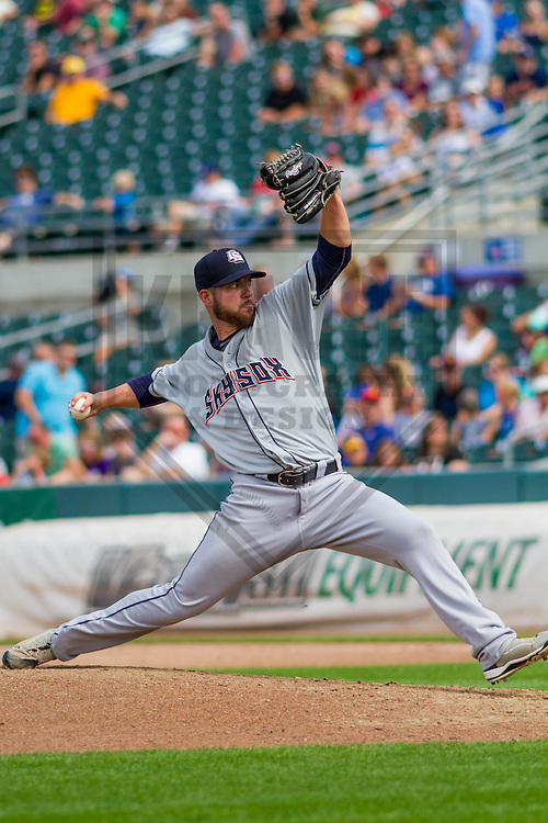 Colorado Springs Sky Sox pitcher Damien Magnifico (33) during a game against the Iowa Cubs on September 4th, 2016 at Principal Park in Des Moines, Iowa. Iowa defeated Colorado Springs 5-1. (Brad Krause/Krause Sports Photography)