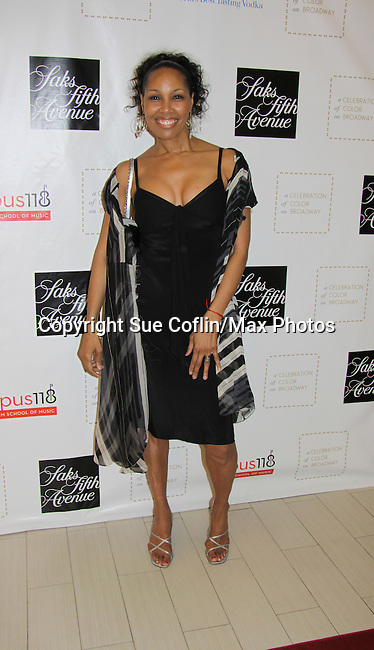 Guiding Light Kim Brockington attends the Innaugural Celebration of Color on Broadway Awards were held on June 8, 2011 at SAKS Fifth Avenue, New York City, New York. The event was held upstairs where beautiful shoes are sold and where a part of the sales this night will benefit OPUS 118 Harlem's School of Music. (Photo by Sue Coflin/Max Photos)