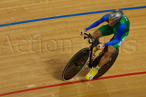 31.08.2012 London, England. Joao Alberto SCHWINDT FILHO (BRA) in action during Dthe men's C4-5 individual time trial on Day 2 of the Paralympic Track Cycling from the Velodrome.