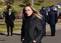 Serena Autieri  partecipa ai funerali  di  Pino Daniele al santuario del divino amore di Roma