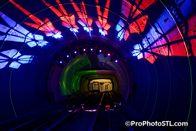 The Bund Sightseeing Tunnel in Shanghai, China