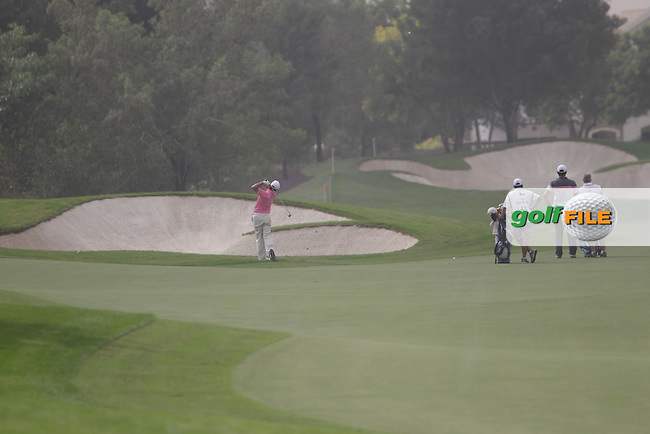 Felipe AGUILAR (CHI) during round 4 of the DP World, Tour Championship, Dubai, UAE.<br /> Picture: Fran Caffrey www.golffile.ie