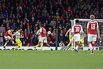 14.09.2017, Emirates Stadium, London, GER, Europa League, Arsenal London vs 1. FC Koeln, im Bild<br /> <br /> Tor zum 2:1 f&uuml;r Arsenal durch Alexis Sanchez ( Arsenal #7 ), links<br /> <br /> <br /> Foto &copy; nordphoto / Treese