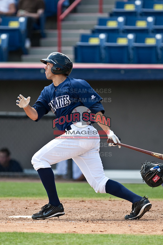 April 11th 2010: Erik Miller of the Brevard County Manatees, the Florida State League High-A affiliate of the Milwaukee Brewers in a game against the of the Daytona Cubs, the Florida State League High-A affiliate of the Chicago Cubs at Space Coast Stadium in Viera, FL (Photo By Scott Jontes/Four Seam Images)