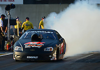 Oct. 5, 2012; Mohnton, PA, USA: NHRA pro stock driver Erica Enders during qualifying for the Auto Plus Nationals at Maple Grove Raceway. Mandatory Credit: Mark J. Rebilas-