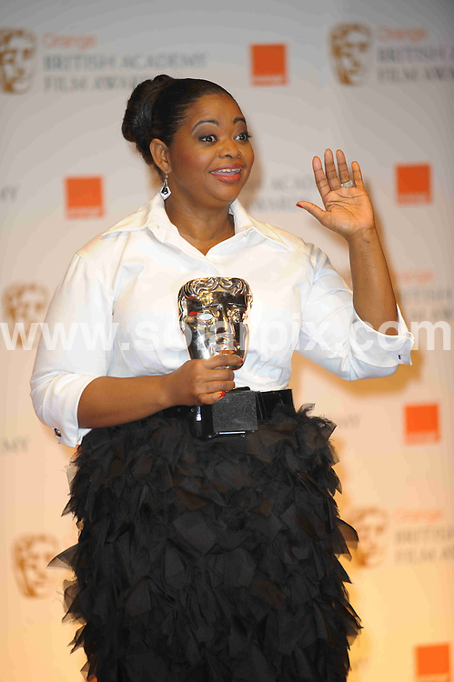 **ALL ROUND PICTURES FROM SOLARPIX.COM**                                             **WORLDWIDE SYNDICATION RIGHTS**                                                                                  Caption: Orange British Academy Film Awards at The .Royal Opera House in Covent Garden London                                                                              This pic: Octavia Spencer                                                                                        JOB REF:14467        MSR       DATE: 12.02.2012                                                           **MUST CREDIT SOLARPIX.COM OR DOUBLE FEE WILL BE CHARGED**                                                                      **MUST AGREE FEE BEFORE ONLINE USAGE**                               **CALL US ON: +34 952 811 768 or LOW RATE FROM UK 0844 617 7637**