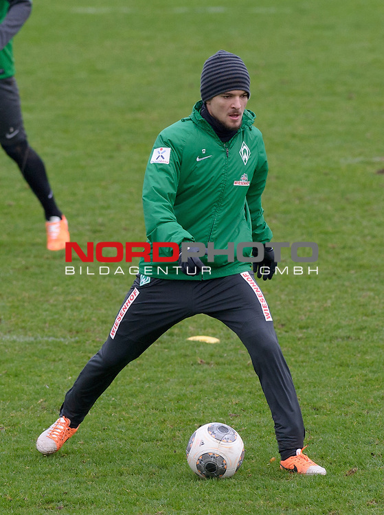 18.12.2013, Trainingsgelaende, Bremen, GER, 1.FBL, Training Werder Bremen, im Bild Aleksandar Ignjovski (Bremen #17)<br /> <br /> Foto &copy; nordphoto / Frisch