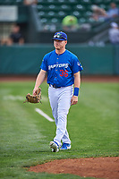 Ryan Ward (36) of the Ogden Raptors before the game against the Grand Junction Rockies at Lindquist Field on June 17, 2019 in Ogden, Utah. The Rockies defeated the Raptors 9-0. (Stephen Smith/Four Seam Images)