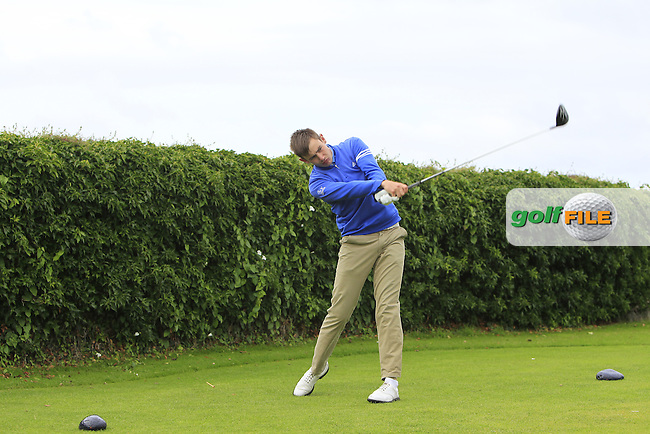 Joseph O'Neill (Tralee) on the 5th tee during Round 3 of the 2016 Connacht U18 Boys Open, played at Galway Golf Club, Galway, Galway, Ireland. 07/07/2016. <br /> Picture: Thos Caffrey | Golffile<br /> <br /> All photos usage must carry mandatory copyright credit   (&copy; Golffile | Thos Caffrey)