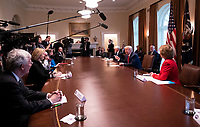 United States President Donald J. Trump speaks as he holds a meeting with nurses on the COVID-19 response at the White House in Washington, DC, March 18, 2020, in Washington, D.C. <br /> Credit: Kevin Dietsch / Pool via CNP/AdMedia
