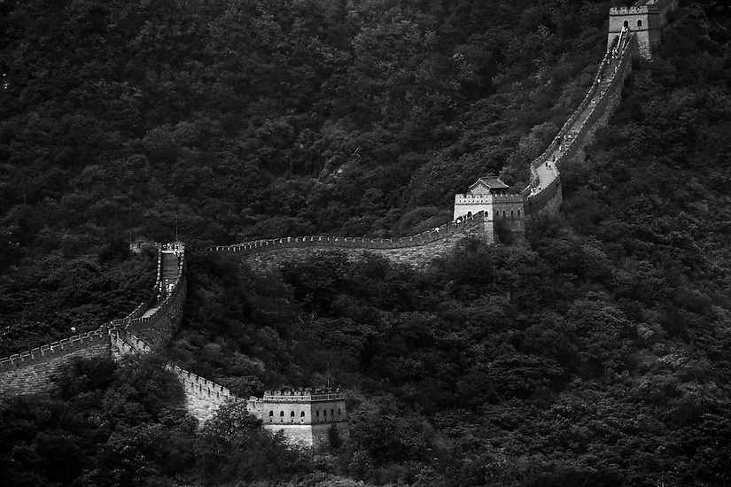 A section of the Great Wall of China near Bejing.