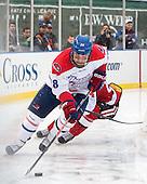 Jake Suter (UML - 28) - The Northeastern University Huskies defeated the University of Massachusetts Lowell River Hawks 4-1 (EN) on Saturday, January 11, 2014, at Fenway Park in Boston, Massachusetts.