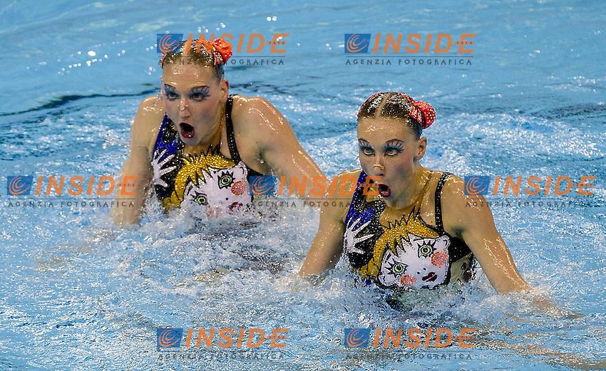 Shanghai ,  (CHN) 16-31 July 2001.XIV FINA Swimming World Championships.day 07.Duet Free .Final..Russia.Photo Insidefoto / Giorgio Scala