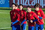 Mikel Merino and Saul iniguez during the training of Spanish national team under 21 at Ciudad del El futbol  in Madrid, Spain. March 21, 2017. (ALTERPHOTOS / Rodrigo Jimenez)