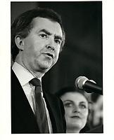 Joe Clark, le  27 fevrier 1981<br /> <br /> PHOTO :  John Raudsepp - Agence Quebec presse