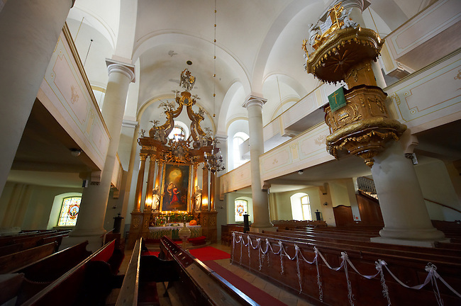 Interior of the Neo Classic Lutheran Church (Evangélikus templon)- Sopron, Hungary