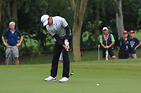 Phachara Khongwatmai (Asia) on the 7th green during the Saturday Foursomes of the Eurasia Cup at Glenmarie Golf and Country Club on the 13th January 2018.<br /> Picture:  Thos Caffrey / www.golffile.ie