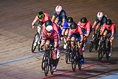 7th February 2019, Melbourne Arena, Melbourne, Australia; Six Day Melbourne Cycling; Manon Lloyd of Great Britain leads the pack