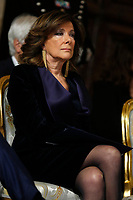 President of Senate Maria Elisabetta Alberti Casellati<br /> Rome December 19th 2018. Quirinale. Traditional exchange of Christmas wishes between the President of the Republic and the institutions.<br /> Foto Samantha Zucchi Insidefoto