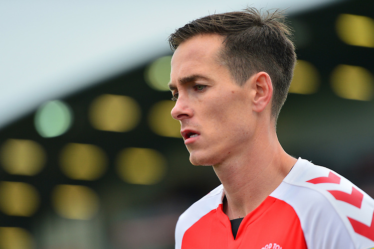 Fleetwood Town's Josh Morris in action<br /> <br /> Photographer Richard Martin-Roberts/CameraSport<br /> <br /> The EFL Sky Bet League One - Fleetwood Town v Ipswich Town - Saturday 5th October 2019 - Highbury Stadium - Fleetwood<br /> <br /> World Copyright © 2019 CameraSport. All rights reserved. 43 Linden Ave. Countesthorpe. Leicester. England. LE8 5PG - Tel: +44 (0) 116 277 4147 - admin@camerasport.com - www.camerasport.com