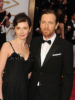 WWW.BLUESTAR-IMAGES.COM  Actor Ewan McGregor (R) and Eve Mavrakis attend the 86th Annual Academy Awards held at Hollywood &amp; Highland Center on March 2, 2014 in Hollywood, California.<br /> Photo: BlueStar Images/OIC jbm1005  +44 (0)208 445 8588