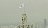 SAO PAULO, SP, 14 MARCO 2013 - EXPO 2020 SÃO PAULO -  A bandeira da candidatura da Expo 2020 Sao Paulo se encontra hasteada no ed Altino Arantes tambem conhecido como ed do Banespa na regiao central da capital  nessa quinta 14. (FOTO: LEVY RIBEIRO / BRAZIL PHOTO PRESS)
