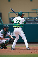 South Florida Bulls left fielder Chris Chatfield (37) at bat during a game against the Dartmouth Big Green on March 27, 2016 at USF Baseball Stadium in Tampa, Florida.  South Florida defeated Dartmouth 4-0.  (Mike Janes/Four Seam Images)