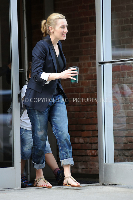 WWW.ACEPIXS.COM . . . . . ....April 7 2010, New York City....Director Sam Mandes and his wife actress Kate Winslet, who recently announced their separation, left their West Village apartment with children Mia Honey and Joe Alfie on April 7 2010 in New York City....Please byline: KRISTIN CALLAHAN - ACEPIXS.COM.. . . . . . ..Ace Pictures, Inc:  ..tel: (212) 243 8787 or (646) 769 0430..e-mail: info@acepixs.com..web: http://www.acepixs.com