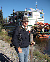 Tom with the paddle wheel boat in background.