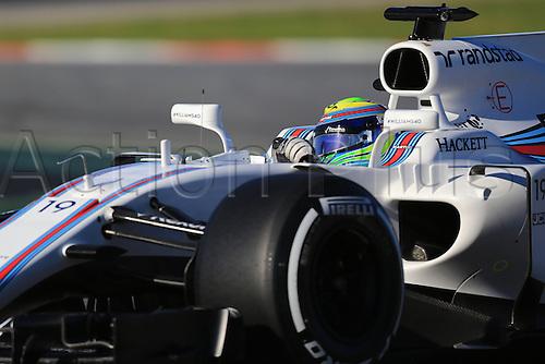March 7th 2017, Circuit de Barcelona-Catalunya, Barcelona, Spain, Formual 1 winter testing session 2 day 1;  Felipe Massa  - Williams Martini Racing FW40