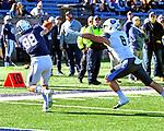 November 2nd, 2019: JP Shohfi [88] of Yale makes a great catch for a TD as the Bulldogs up their record to 6-1 defeating the Columbia Lions 45-10 in Ivy League football.  The game was held at the Yale Bowl in New Haven, Connecticut. Heary/Eclipse Sportswire/CSM