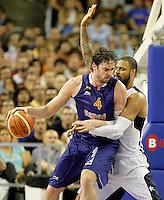 Spain's Pau Gasol (l) and USA's Tyson Chandler during friendly match.July 24,2012. (ALTERPHOTOS/Acero) /NortePhoto.com<br /> **CREDITO*OBLIGATORIO** *No*Venta*A*Terceros*<br /> *No*Sale*So*third* ***No*Se*Permite*Hacer Archivo***No*Sale*So*third*©Imagenes*con derechos*de*autor©todos*reservados*.
