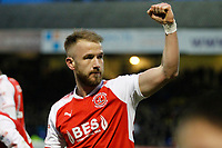 Paddy Madden of Fleetwood Town celebrates scoring on his debut during the Sky Bet League 1 match between Southend United and Fleetwood Town at Roots Hall, Southend, England on 13 January 2018. Photo by Carlton Myrie.
