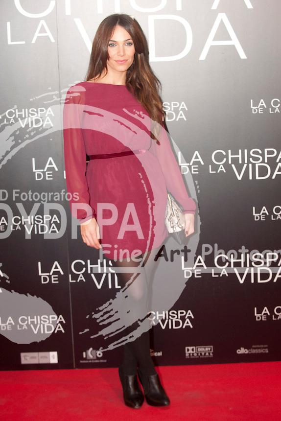 """12/01/2012. Callao Cinema. Madrid. Spain. """"La chispa de la vida"""" premiere. Nerea Garmendia"""