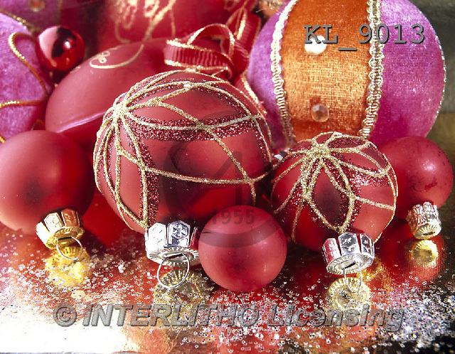 Interlitho, CHRISTMAS SYMBOLS, WEIHNACHTEN SYMBOLE, NAVIDAD SÍMBOLOS, photos+++++,coloured balls,KL9013,#xx#