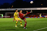 Reece Grego-Cox of Crawley Town keeps the ball in play during Crawley Town vs Morecambe, Sky Bet EFL League 2 Football at Broadfield Stadium on 16th November 2019