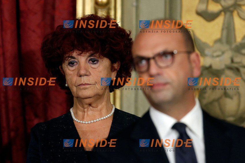 Valeria Fedeli<br /> Roma 12-12-2016. Quirinale Cerimonia del giuramento die Ministri<br /> Rome December 12th 2016. Swearing ceremony of the new Government<br /> Foto Samantha Zucchi Insidefoto