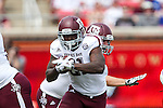 Texas A&M Aggies running back Tra Carson (21) in action during the game between the Texas A&M Aggies and the SMU Mustangs at the Gerald J. Ford Stadium in Fort Worth, Texas. A&M leads SMU 38 to 3 at halftime.