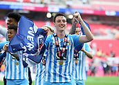 28th May 2018, Wembley Stadium, London, England;  EFL League 2 football, playoff final, Coventry City versus Exeter City; Dominic Hyam of Coventry City celebrates with a winners medal