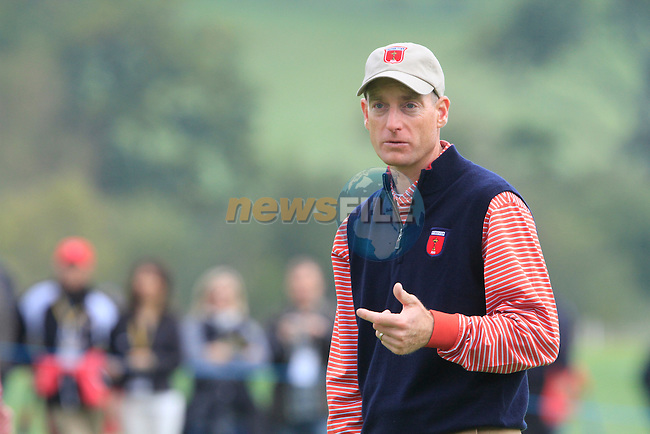 Jim Furyk on the 7th green during Practice Day 3 of the The 2010 Ryder Cup at the Celtic Manor, Newport, Wales, 29th September 2010..(Picture Eoin Clarke/www.golffile.ie)