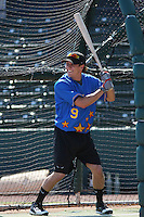 Lake Elsinore Storm outfielder Blake Tekotte of the California League All-Stars taking batting practice before the California League vs. Carolina League All-Star game held at BB&T Coastal Field in Myrtle Beach, SC on June 22, 2010. The California League All-Stars defeated the Carolina League All-Stars by the score of 4-3.  Photo By Robert Gurganus/Four Seam Images