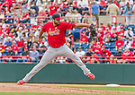 7 March 2015: St. Louis Cardinals pitcher Jordan Walden on the mound during a Spring Training game against the Washington Nationals at Space Coast Stadium in Viera, Florida. The Cardinals fell to the Nationals 6-5 in Grapefruit League play. Mandatory Credit: Ed Wolfstein Photo *** RAW (NEF) Image File Available ***