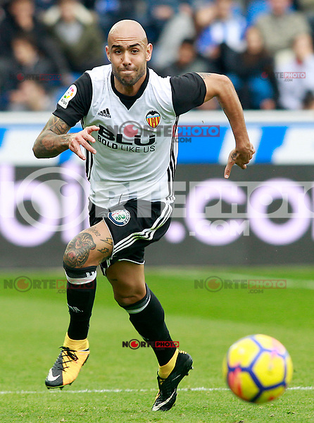 Valencia CF's Simone Zaza during La Liga match. October 28,2017. (ALTERPHOTOS/Acero) /NortePhoto.com