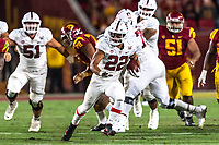 Los Angeles, CA - Sept. 7, 2019.  USC defeated Stanford 45-20 in the Pac-12 season opener for both schools at the Los Angeles Memorial Coliseum.