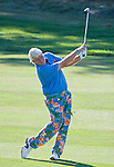 August 5, 2012: John Daly swings on the 18th fairway during the final round of the 2012 Reno-Tahoe Open Golf Tournament at Montreux Golf & Country Club in Reno, Nevada.