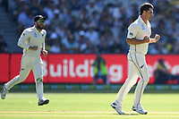 26th December 2019; Melbourne Cricket Ground, Melbourne, Victoria, Australia; International Test Cricket, Australia versus New Zealand, Test 2, Day 1; Colin De Grandhomme of New Zealand celebrates a wicket - Editorial Use