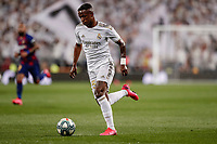 1st March 2020; Estadio Santiago Bernabeu, Madrid, Spain; La Liga Football, Real Madrid versus Club de Futbol Barcelona; Vinicius Junior (Real Madrid) breaks forward on the ball