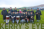 The Valentia Pipe Band made a welcome return to the grounds of the Con Keating Park, Cahersiveen after an absence of 20 years for the Final of the South Kerry Senior football final on Saturday last.